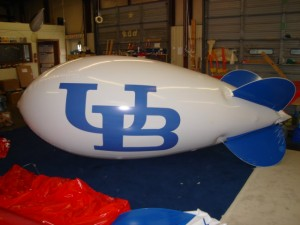mascot balloon with UB logo
